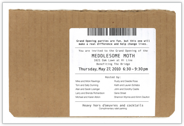 Meddlesome Moth Invitation